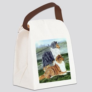 Rough Collie Pair Canvas Lunch Bag