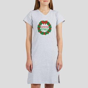 Christmas Crazy Wreath Women's Nightshirt