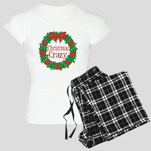 Christmas Crazy Wreath Women's Light Pajamas