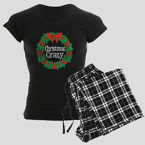 Christmas Crazy Wreath Women's Dark Pajamas