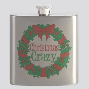 Christmas Crazy Wreath Flask