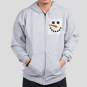 Snowman Face Zipped Hoody