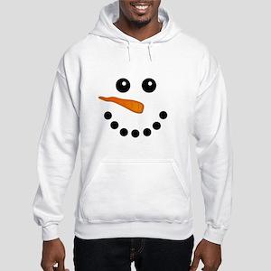 Snowman Face Hoodie Sweatshirt