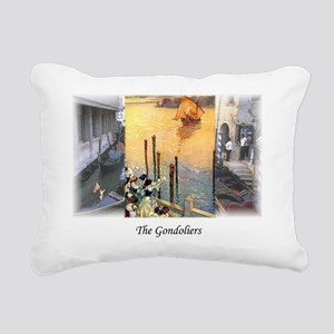 gondoliers2 Rectangular Canvas Pillow