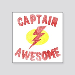 """Captain Awesome Square Sticker 3"""" x 3"""""""