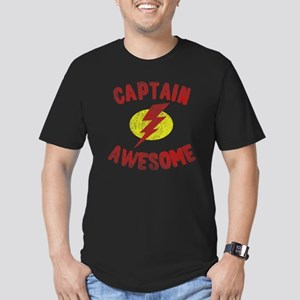 Captain Awesome Men's Fitted T-Shirt (dark)
