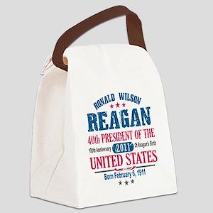 Ronald Reagan 3 Canvas Lunch Bag