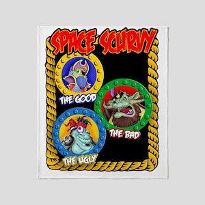 Space Scurvy Tshirt2 Throw Blanket