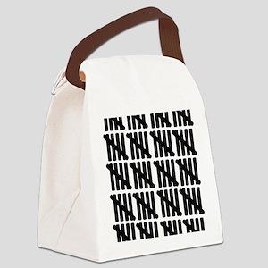 line_hundred Canvas Lunch Bag