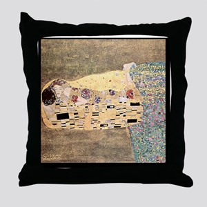 The_Kiss_Gustav_Klimt_2000pix_sig Throw Pillow