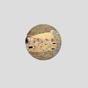 The_Kiss_Gustav_Klimt_2000sq_rot Mini Button