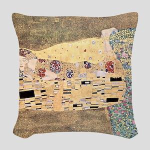 The_Kiss_Gustav_Klimt_2000sq_r Woven Throw Pillow