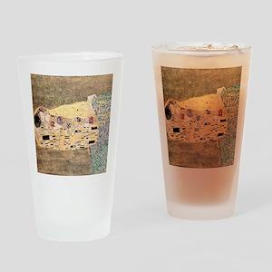 The_Kiss_Gustav_Klimt_2000sq_rot Drinking Glass