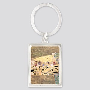 The_Kiss_Gustav_Klimt_2000sq_rot Portrait Keychain
