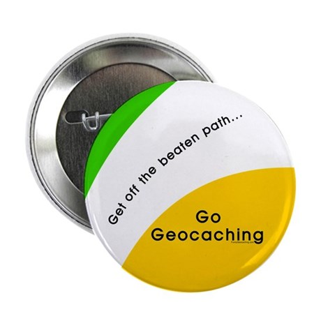 """Geocaching Off the Path 2.25"""" Button (10 pack)"""