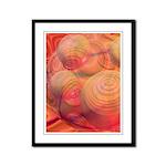 Inner Flow IV Abstract Orange Framed Panel Print