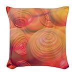 Inner Flow IV Abstract Orange Woven Throw Pillow
