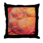 Inner Flow IV Abstract Orange Throw Pillow