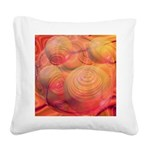 Inner Flow IV Abstract Orange Square Canvas Pillow