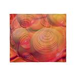 Inner Flow IV Abstract Orange Throw Blanket