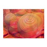 Inner Flow IV Abstract Orange 5'x7'Area Rug