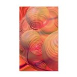 Inner Flow IV Abstract Orange 20x12 Wall Decal