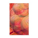 Inner Flow IV Abstract Orange 35x21 Wall Decal