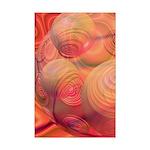 Inner Flow IV Abstract Orange Mini Poster Print