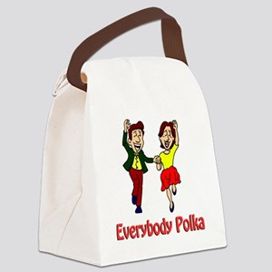 Everybody Polka Shirt Canvas Lunch Bag