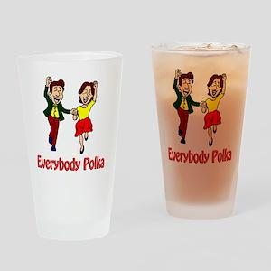 Everybody Polka Shirt Drinking Glass