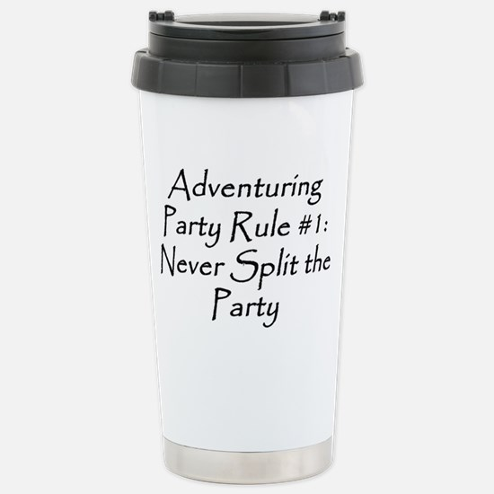 Adventuring Party Rule 1 black Stainless Steel Tra