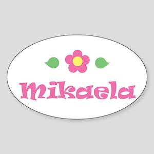 "Pink Daisy - ""Mikaela"" Oval Sticker"