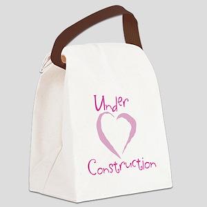 under contruction_girldark Canvas Lunch Bag