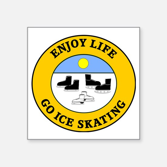 "ice skating3 Square Sticker 3"" x 3"""