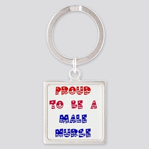 2-RWB male NURSE Square Keychain