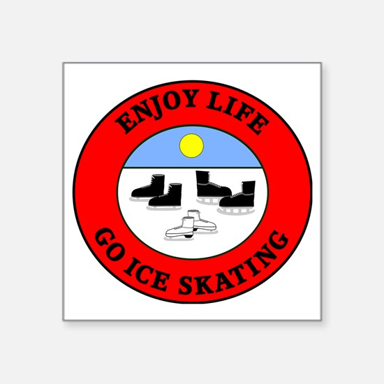 "ice skating2 Square Sticker 3"" x 3"""