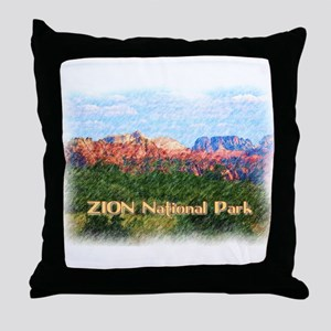 Zion National Park, Utah Throw Pillow