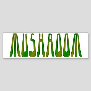 Mushroom - green mix Sticker (Bumper)