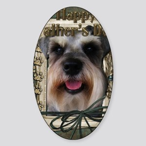 Stone_Paws_Schnauzer Sticker (Oval)