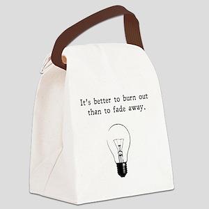 burnout blk Canvas Lunch Bag