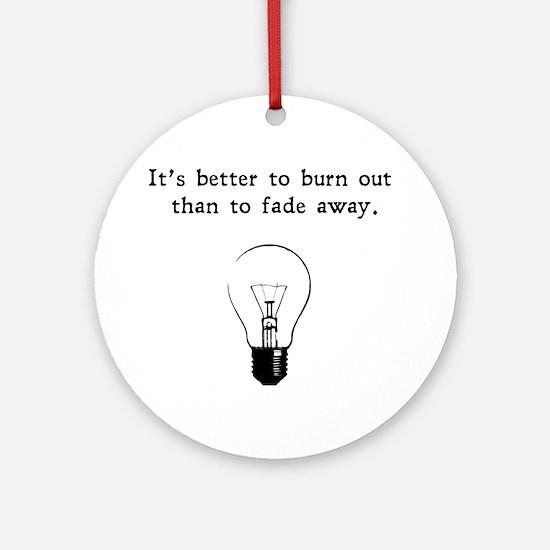 burnout blk Round Ornament