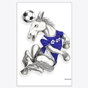 "Ipswich Football Horse Large Poster 30""x23"""