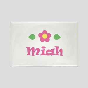 "Pink Daisy - ""Miah"" Rectangle Magnet"