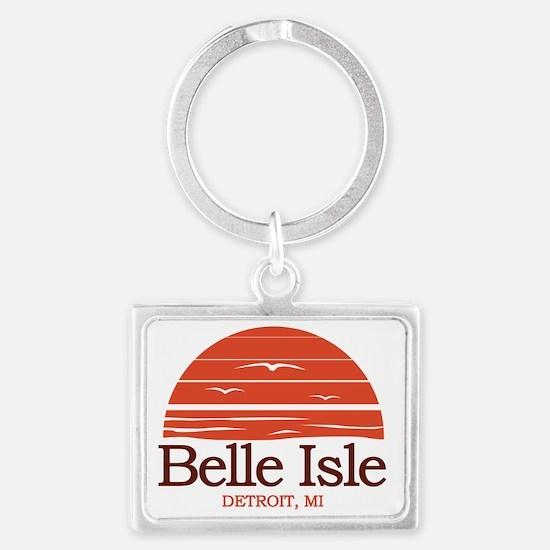 Belle Isle Detroit Michigan Landscape Keychain