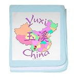 Yuxi China Map baby blanket