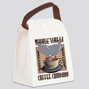 Whale-Street-Coffee Canvas Lunch Bag
