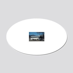 Area 51 Worker Bus 20x12 Oval Wall Decal