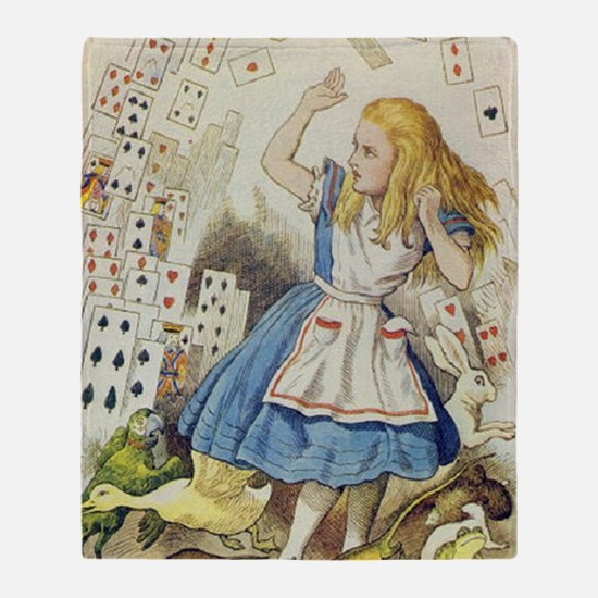 ALICE The Shower of Cards  Illustrat Throw Blanket