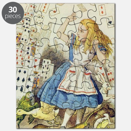 ALICE The Shower of Cards  Illustration fro Puzzle