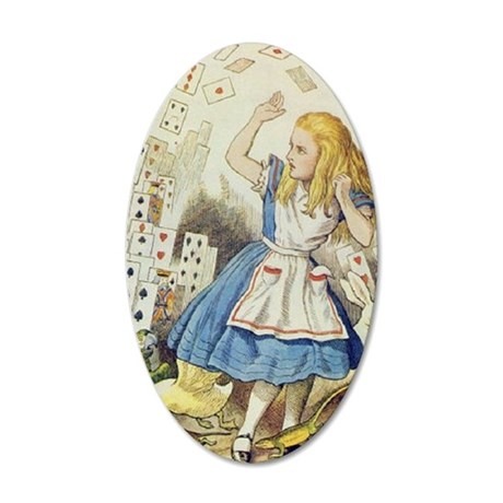 ALICE The Shower of Cards I 35x21 Oval Wall Decal
